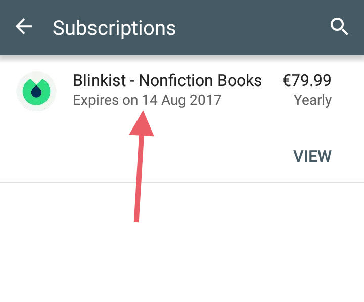 How can I cancel my 7 day trial? (GooglePlay) – Blinkist Support