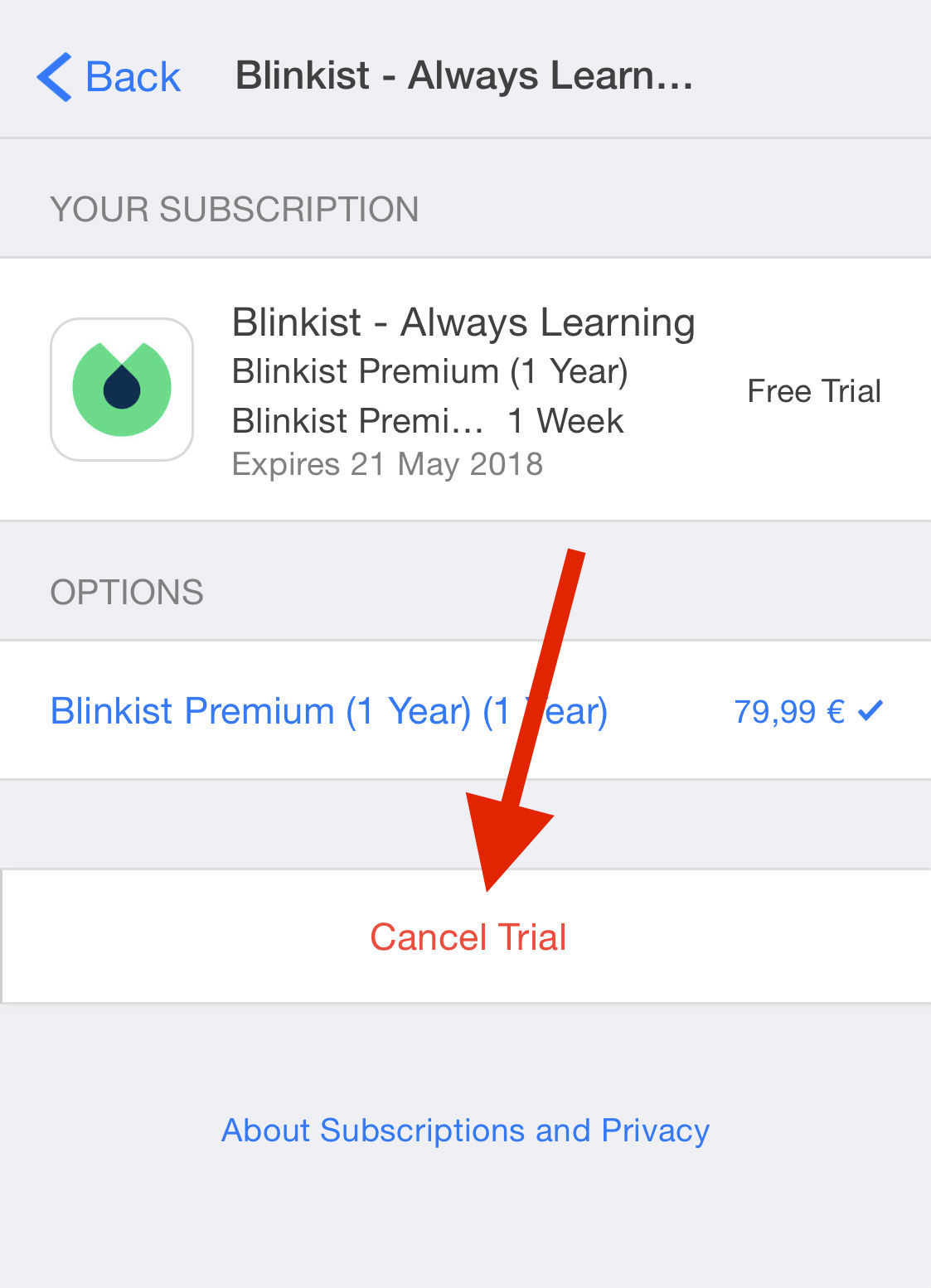  How can I cancel my 7 day trial? – Blinkist Support